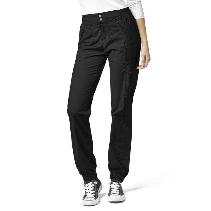5908 Pantalón Jogger estilo cargo con Zipper para mujer ...